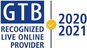 GTB Recognized Live Online Provider 2020/2021